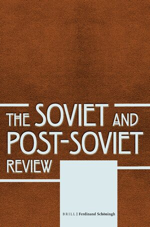 Cover The Soviet and Post-Soviet Review