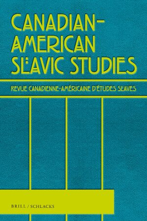 Cover Canadian-American Slavic Studies