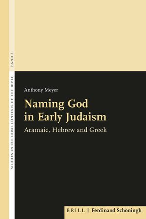 Cover Naming God in Early Judaism