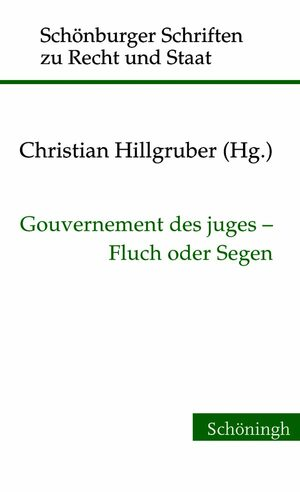 Cover Gouvernement des juges - Fluch oder Segen