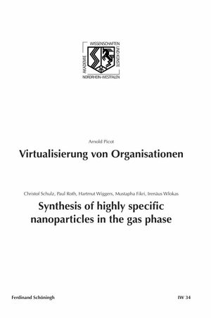 Cover Virtualisierung von Organisationen. Synthesis of highly specific Nanoparticles in the gas phase