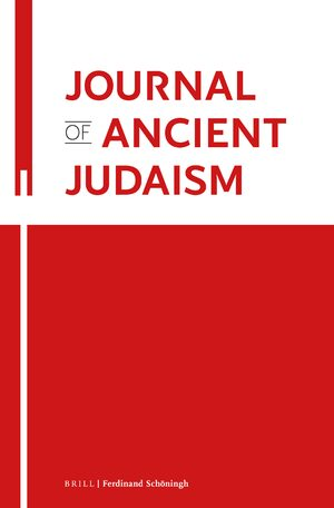 Cover Journal of Ancient Judaism