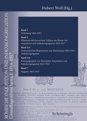 Cover Römische Inquisition und Indexkongregation