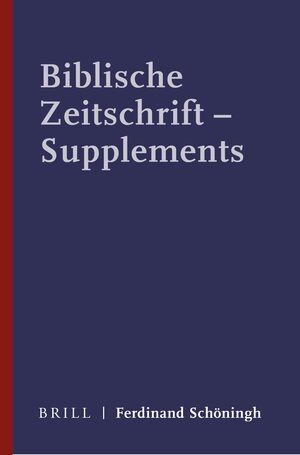 Cover Biblische Zeitschrift - Supplements