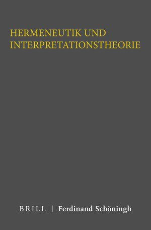 Cover Hermeneutik und Interpretationstheorie