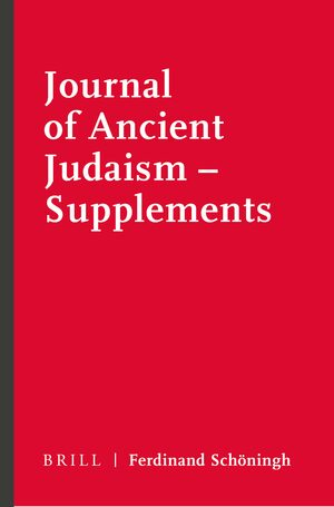 Cover Journal of Ancient Judaism - Supplements