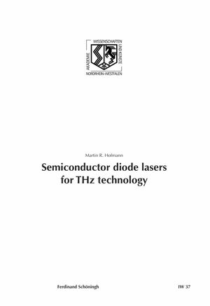 Cover Semiconductor diode lasers for THz technology