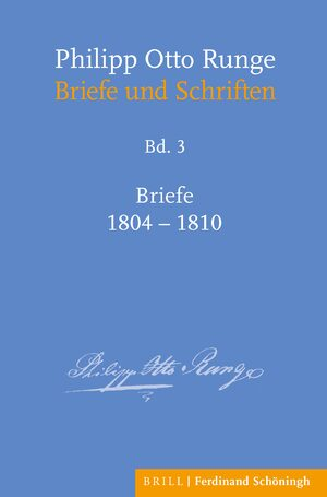 Cover Philipp Otto Runge – Briefe 1804-1810