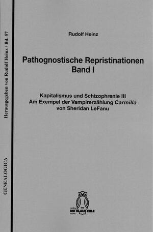 Cover Pathognostische Repristinationen Band I